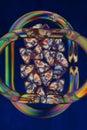 Polarized light rings abstract Royalty Free Stock Photos
