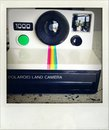Polaroid camera. Royalty Free Stock Image