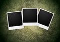 Polaroid frame on grunge wall background Royalty Free Stock Photo