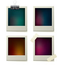 Polaroid frame set colorful bitmap picture with eps vector file Royalty Free Stock Images