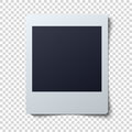 Polaroid frame vector illustration . Single instant photo with black space for image Royalty Free Stock Photo