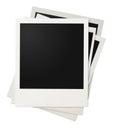 Polaroidfotorahmenstapel lokalisiert Stockbild