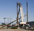 Pole construction Stock Photo