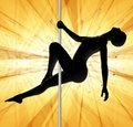 Pole Dancing Yellow Abstract Stock Photography