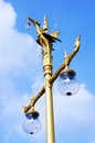 Pole light  in wat sothon worawiharn Royalty Free Stock Photo