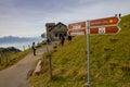 The pole sign on Mt. Rigi