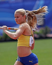 Pole vault women sweden meijer Royalty Free Stock Photography