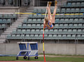 Pole Vaulter Royalty Free Stock Photo