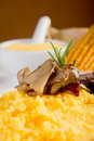 Polenta and mushroom Royalty Free Stock Photography