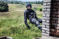 Police assault operation spec ops officer swat during Stock Photo
