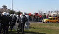POLICE ATTACKED IN NEWROZ,ISTANBUL. Stock Images