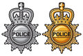 Police badge sign coat of arms Stock Photo