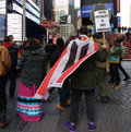Police Brutality Is Anti American, Protesters in Times Square, New York City, NYC, NY, USA