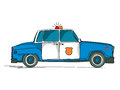 Police car cartoon over white background Royalty Free Stock Photo