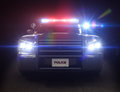Police car cruiser Stock Photography