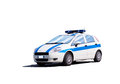 Police car small italian isolated on white Royalty Free Stock Photo