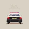 Police car. Vector cartoon illustration Royalty Free Stock Photo