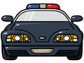 Police car vector illustration of Stock Image