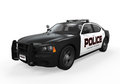 Police car on white background d render Stock Images