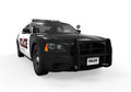 Police car on white background d render Stock Image