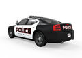 Police car on white background d render Stock Photography