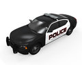 Police car on white background d render Royalty Free Stock Photos
