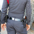 Police carry guns Royalty Free Stock Photo