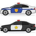 Police cars Stock Photography