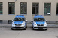 The police cars on the street in berlin germany new Stock Images
