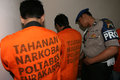 Police catch drug dealers and users in solo central java indonesia Stock Photography