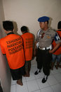 Police catch drug dealers and users in solo central java indonesia Royalty Free Stock Images