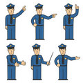 Police character set 03 Royalty Free Stock Photos