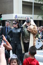 Police chief gordon catwoman bane the annual dragoncon parade held august in atlanta ga features many characters and costumes Stock Image