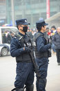 Police chinoise Photo libre de droits