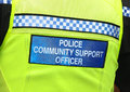 Police community support officer  Stock Photo