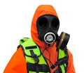 Police Hazmat CBRN suit Royalty Free Stock Images
