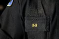 Police k a close up of a officer s uniform bdu battle dress uniform shirt Stock Images