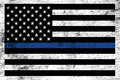 Police Law Enforcement Support Flag Background Royalty Free Stock Photo