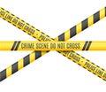 Police Line. Scene Crime Do Not Cross. Vector