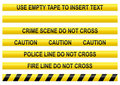 Police line tapes Royalty Free Stock Photography