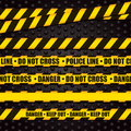 Police Line Warning Tape Stock Images