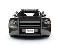 Police modern car Royalty Free Stock Photo