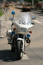 Police motorbike Stock Photography