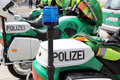 Police motorbikes in berlin germany Stock Photos