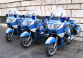 Police motorbikes in Rome Royalty Free Stock Photo
