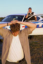 Police officer arrests criminal focus criminal on young caucasian male as Stock Photos
