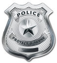 Police Officer Badge Royalty Free Stock Photo