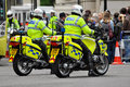 Police officers on motorbikes in London Royalty Free Stock Photo