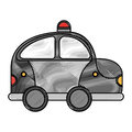 Police patrol drawing icon