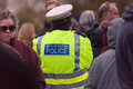 Police presence crowd london metropolitan people Stock Image